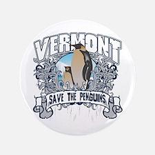 "Save the Penguin Vermont 3.5"" Button"