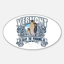 Save the Penguin Vermont Oval Decal