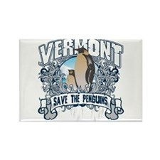 Save the Penguin Vermont Rectangle Magnet