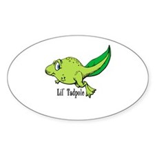 Lil Tadpole Oval Decal