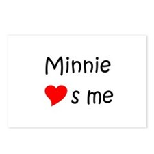 Funny Minnie Postcards (Package of 8)