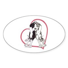 CCMtH Heartline Lean Oval Decal