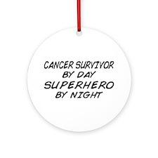 Cancer Survivor Superhero Ornament (Round)