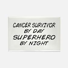 Cancer Survivor Superhero Rectangle Magnet