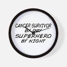 Cancer Survivor Superhero Wall Clock