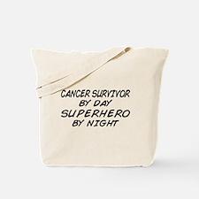 Cancer Survivor Superhero Tote Bag