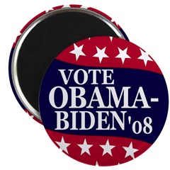 Vote Obama-Biden '08 Fridge Magnet