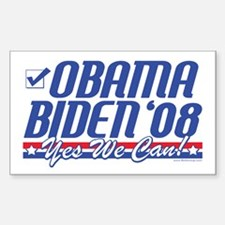 Obama Biden 2008 Rectangle Decal