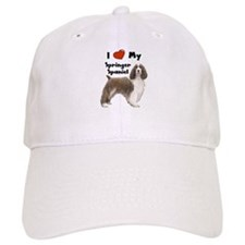 I Love My Springer Spaniel Baseball Cap