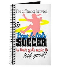 Girls Make Soccer Look Good Journal