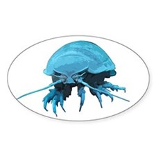 Giant Isopod Oval Decal