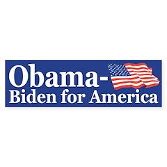 Obama-Biden for America (flag bumper sticker)