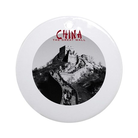 China: The Great Wall Ornament (Round)