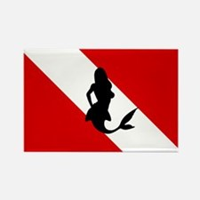 Diving Flag: Mermaid Rectangle Magnet