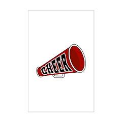 Red Cheer Megaphone Posters
