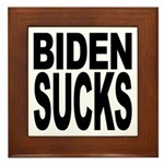 Biden Sucks Framed Tile