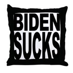 Biden Sucks Throw Pillow