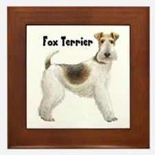 Fox Terrier Framed Tile