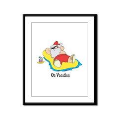 Santa On Vacation Framed Panel Print