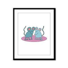 Mouse Love Valentine Framed Panel Print