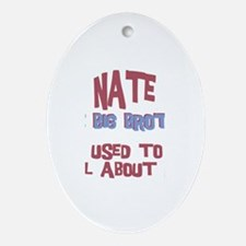 Nate - All About Big Brother Oval Ornament