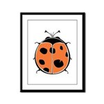 Cute Round Ladybug Framed Panel Print