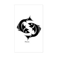 Pisces Zodiac Astrology Tattoo Rectangle Decal