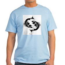 Pisces Zodiac Astrology Tattoo T-Shirt