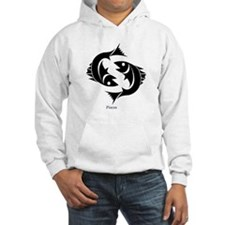 Pisces Zodiac Astrology Tattoo (Front) Hoodie