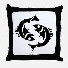 Pisces Zodiac Astrology Tattoo Throw Pillow