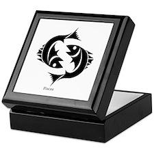 Pisces Zodiac Astrology Tattoo Keepsake Box