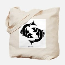Pisces Zodiac Astrology Tattoo Tote Bag
