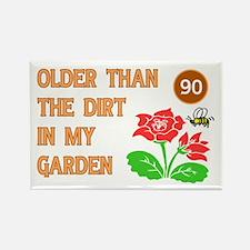 Gardener's 90th Birthday Rectangle Magnet