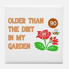 Gardener's 90th Birthday Tile Coaster