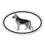 German Shepherd Euro Oval Sticker