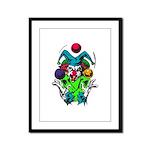 Evil Juggling Jester Clown Framed Panel Print