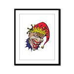 Laughing Evil Grin Clown Framed Panel Print