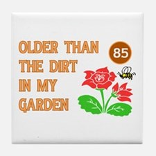 Gardener's 85th Birthday Tile Coaster