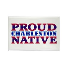 Proud Charleston Native Rectangle Magnet