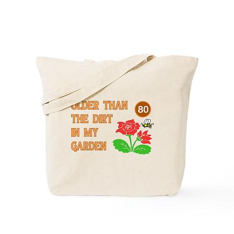 Gardener's 80th Birthday Tote Bag