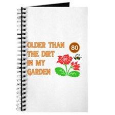 Gardener's 80th Birthday Journal