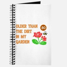 Gardener's 80th Birthday Journal