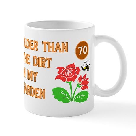 Gardener's 70th Birthday Mug