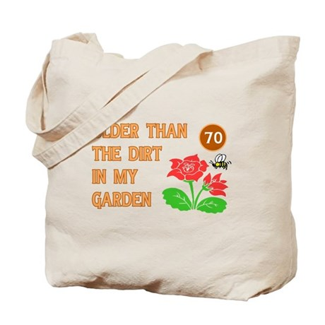 Gardener's 70th Birthday Tote Bag