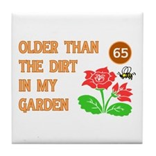 Gardener's 65th Birthday Tile Coaster