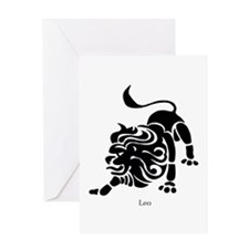 Leo Zodiac Astrology Tattoo Greeting Card