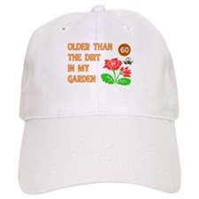 Gardener's 60th Birthday Baseball Cap