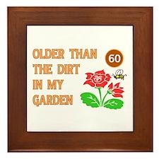 Gardener's 60th Birthday Framed Tile