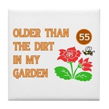 Gardener's 55th Birthday Tile Coaster