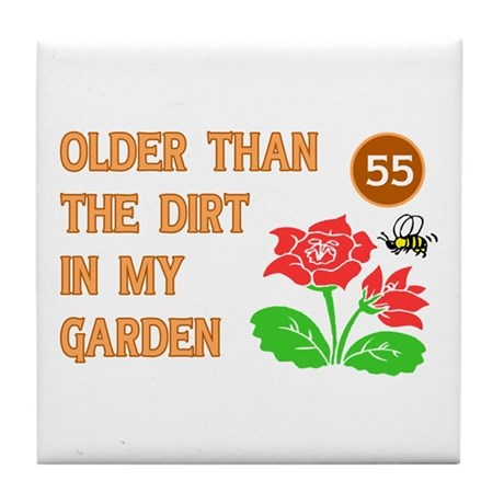 Gardener's 55th Birthday Tile Coaster